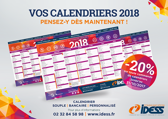 VOS CALENDRIERS 2018